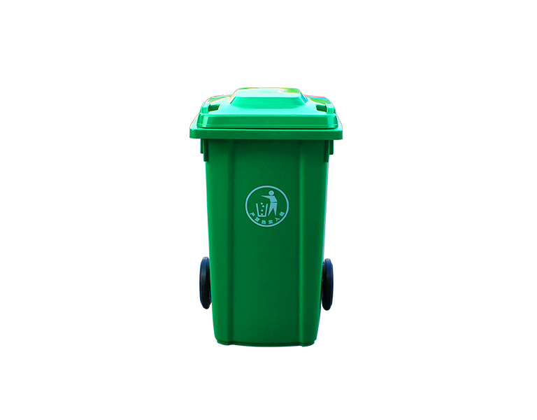 Eco-Friendly outdoor plastic dustbin with 2 wheels