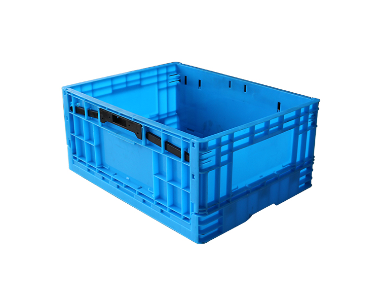 500-240 heavy duty folding crate plastic storage box/bin