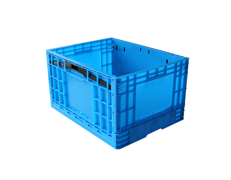 500-300 Blue Plastic Collapsible Storage Crate/Box