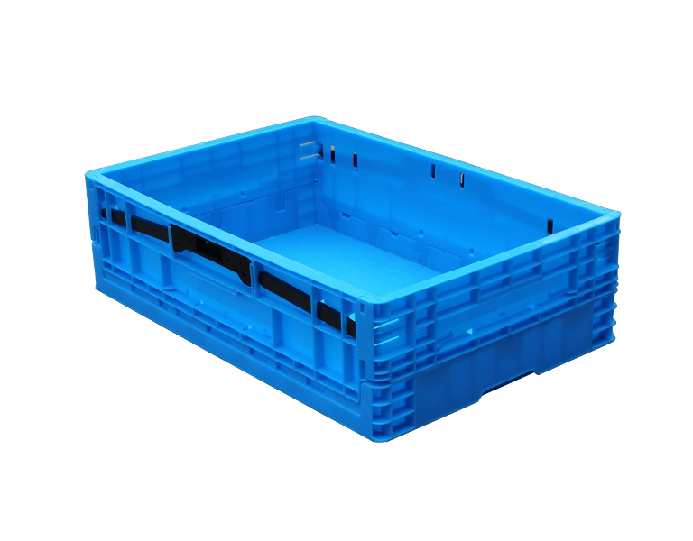 Blue Plastic Collapsible Storage Box/Container, foldable crate