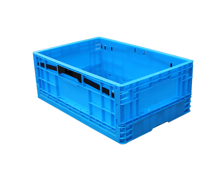 600-230 Blue Plastic Collapsible Storage Box/Container, Folding Crates Storage