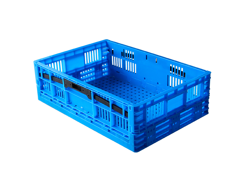 600-180 Folding Plastic Stackable Crates,Foldable Storage Basket For Home and Office Organization