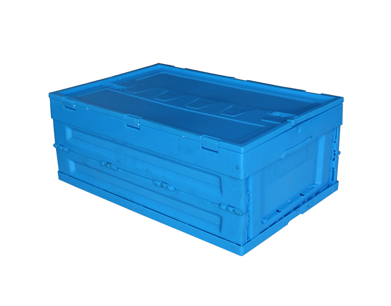 600-240 Food grade vegetable and fruit storage pp plastic folding nestable logistics box with lid