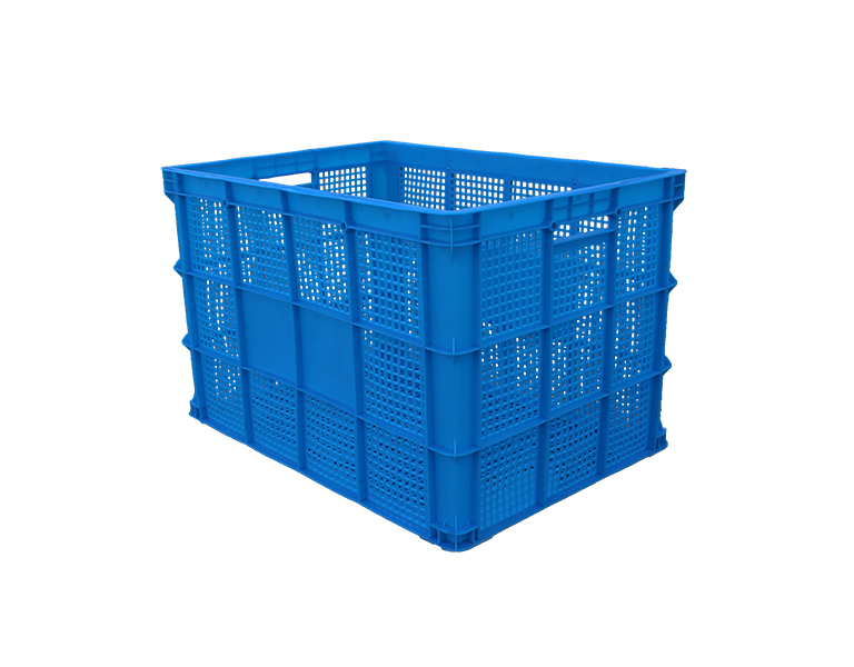 755 Plastic food processing turnover basket with big mesh